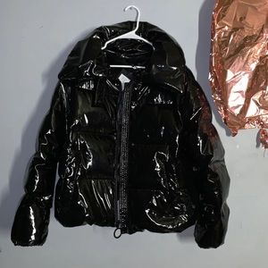 f819b2c159f31 Kendall & Kylie Jackets & Coats - Kendall+Kylie Cropped Shiny Puffer Coat